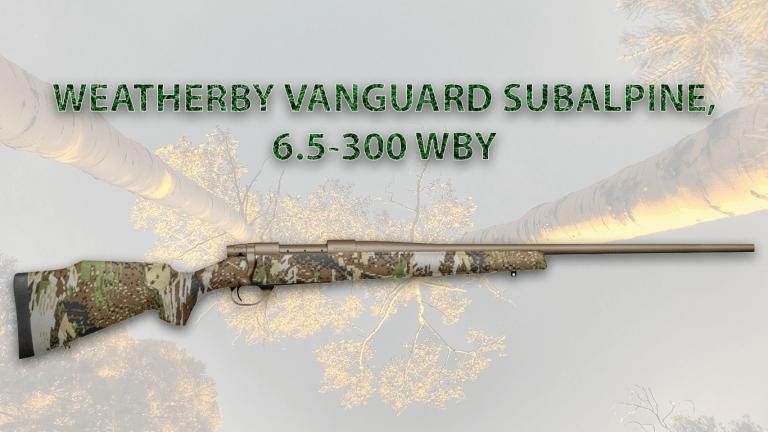 WEATHERBY VANGUARD SUBALPINE, 6.5-300 WBY