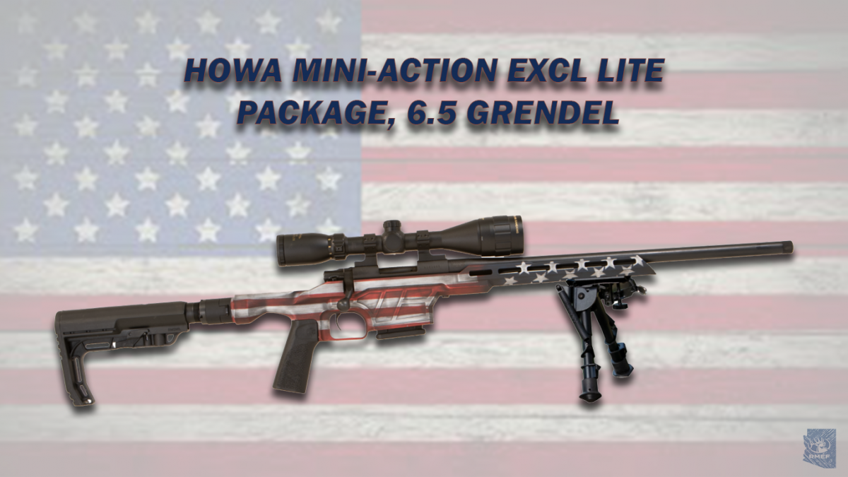 HOWA MINI-ACTION EXCL LITE FLAG FOLDING STOCK PACKAGE, 6.5 GRENDEL