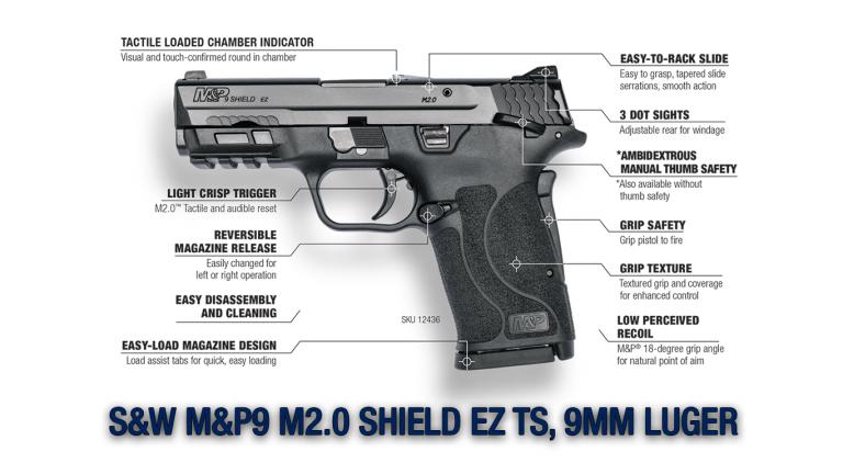 S&W M&P9 M2.0 SHIELD EZ TS, 9MM LUGER