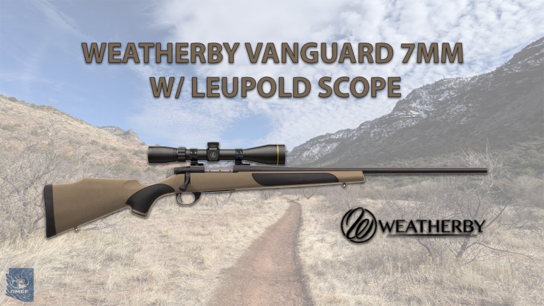 WEATHERBY VANGUARD FDE SYNTHETIC WITH LEUPOLD SCOPE, 7MM